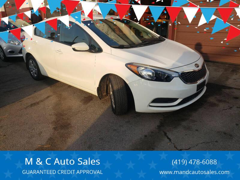 2016 Kia Forte for sale at M & C Auto Sales in Toledo OH