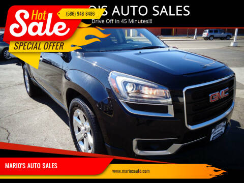2016 GMC Acadia for sale at MARIO'S AUTO SALES in Mount Clemens MI