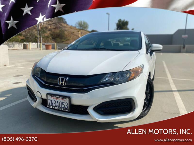 2015 Honda Civic for sale at Allen Motors, Inc. in Thousand Oaks CA