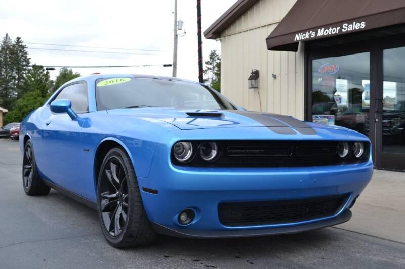 2016 Dodge Challenger for sale at Nick's Motor Sales LLC in Kalkaska MI