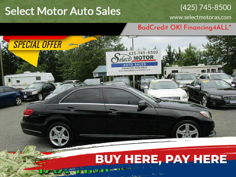 2014 Mercedes-Benz E-Class for sale at Select Motor Auto Sales in Lynnwood WA