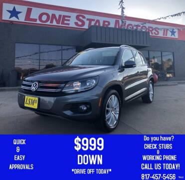 2013 Volkswagen Tiguan for sale at LONE STAR MOTORS II in Fort Worth TX