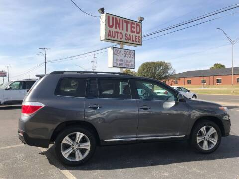 2012 Toyota Highlander for sale at United Auto Sales in Oklahoma City OK