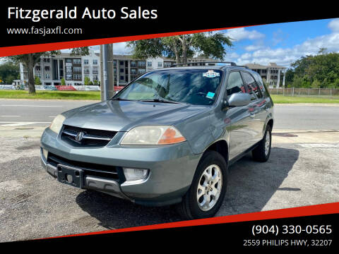 2001 Acura MDX for sale at Fitzgerald Auto Sales in Jacksonville FL