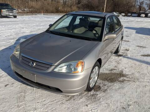 2002 Honda Civic for sale at AUTO PROS SALES AND SERVICE in Belleville IL