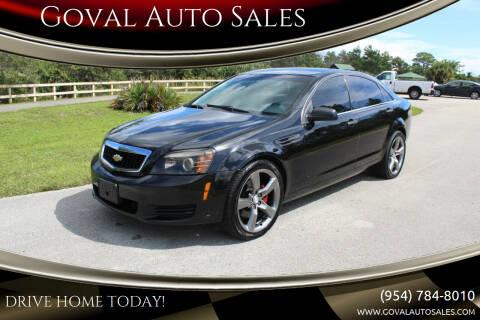 2013 Chevrolet Caprice for sale at Goval Auto Sales in Pompano Beach FL