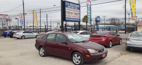 2007 Ford Focus for sale at S.A. BROADWAY MOTORS INC in San Antonio TX