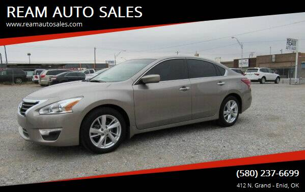2013 Nissan Altima for sale at REAM AUTO SALES in Enid OK