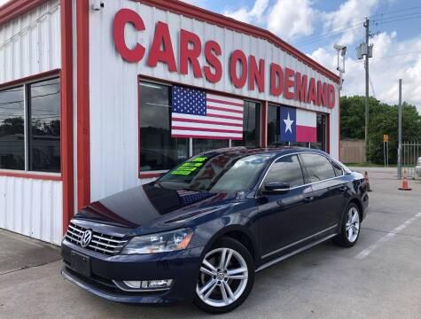 2015 Volkswagen Passat for sale at Cars On Demand 2 in Pasadena TX