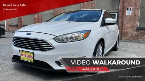 2015 Ford Focus for sale at Rocky's Auto Sales in Worcester MA