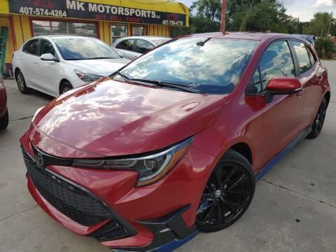 2021 Toyota Corolla Hatchback for sale at MK Motorsports LLC. in Orlando FL
