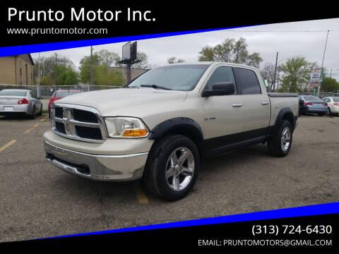 2009 Dodge Ram Pickup 1500 for sale at Prunto Motor Inc. in Dearborn MI