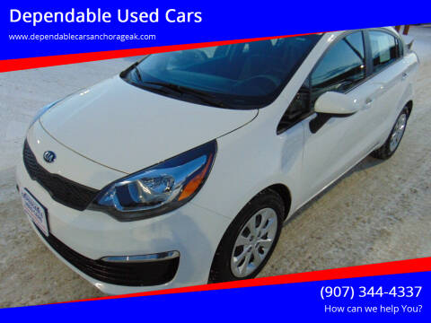 2016 Kia Rio for sale at Dependable Used Cars in Anchorage AK