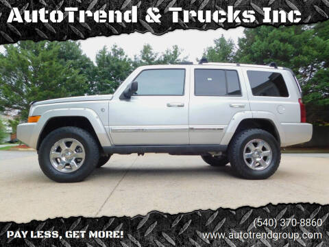 2006 Jeep Commander for sale at AutoTrend & Trucks Inc in Fredericksburg VA