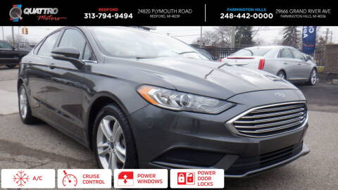 2018 Ford Fusion for sale at Quattro Motors 2 - 1 in Redford MI
