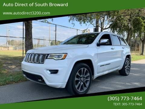 2017 Jeep Grand Cherokee for sale at Auto Direct of South Broward in Miramar FL