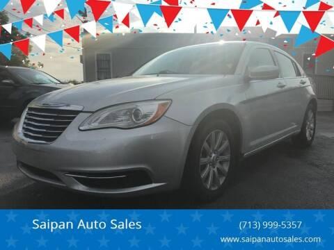 2012 Chrysler 200 for sale at Saipan Auto Sales in Houston TX