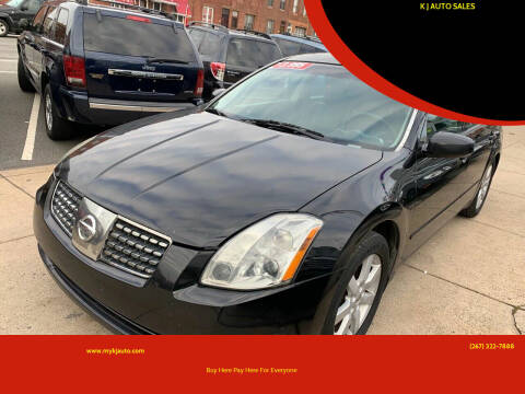 2005 Nissan Maxima for sale at K J AUTO SALES in Philadelphia PA