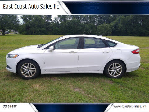 2013 Ford Fusion for sale at East Coast Auto Sales llc in Virginia Beach VA