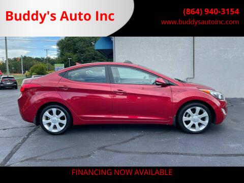 2012 Hyundai Elantra for sale at Buddy's Auto Inc in Pendleton, SC