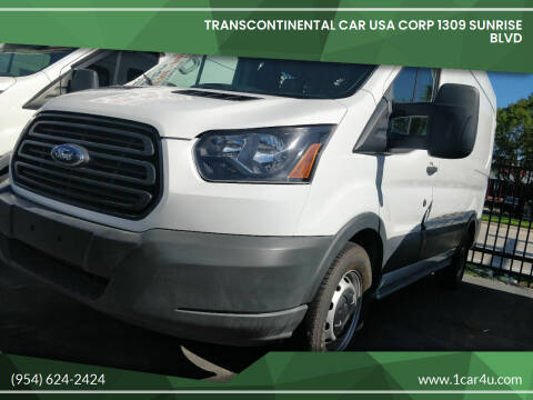 2015 Ford Transit Cargo for sale at Transcontinental Car in Fort Lauderdale FL