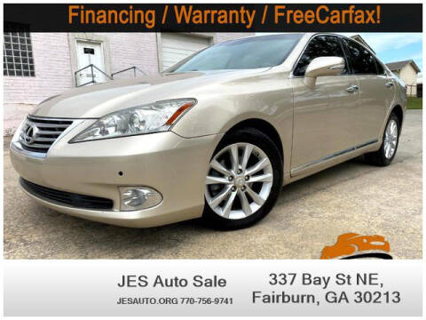2012 Lexus ES 350 for sale at JES Auto Sales LLC in Fairburn GA