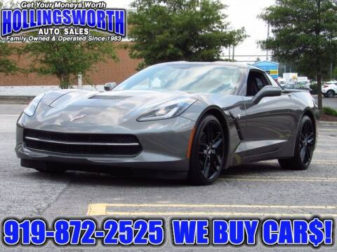 2015 Chevrolet Corvette for sale at Hollingsworth Auto Sales in Raleigh NC