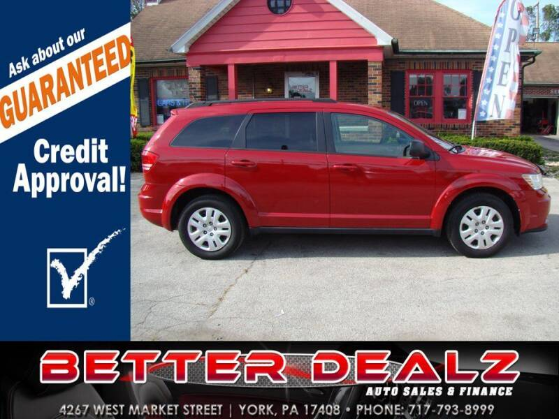 2018 Dodge Journey for sale at Better Dealz Auto Sales & Finance in York PA