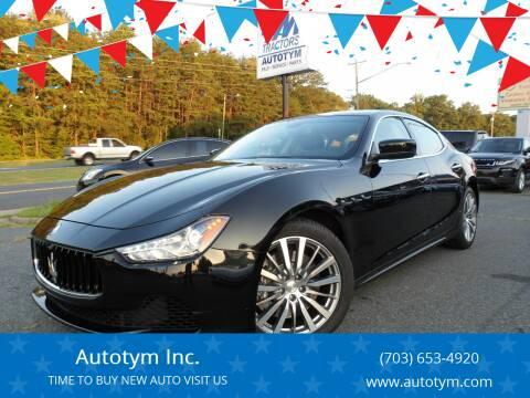 2016 Maserati Ghibli for sale at AUTOTYM INC in Fredericksburg VA