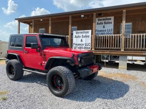 2008 Jeep Wrangler for sale at Vermilion Auto Sales & Finance in Erath LA