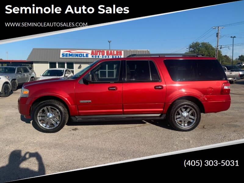 2008 Ford Expedition EL for sale at Seminole Auto Sales in Seminole OK
