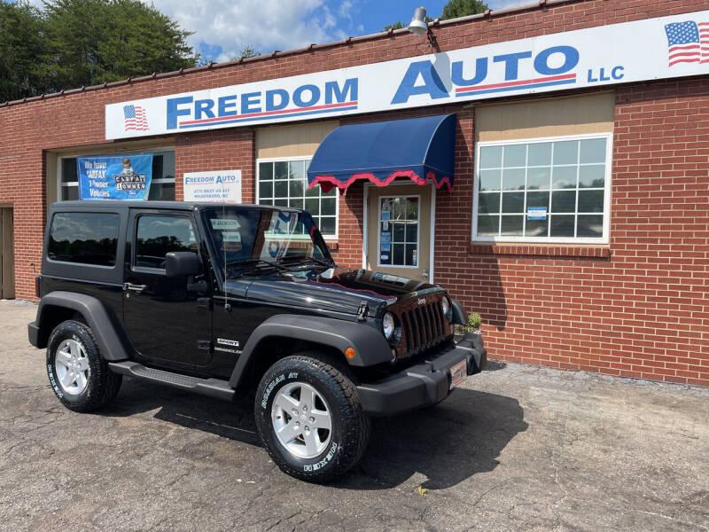 2015 Jeep Wrangler for sale at FREEDOM AUTO LLC in Wilkesboro NC