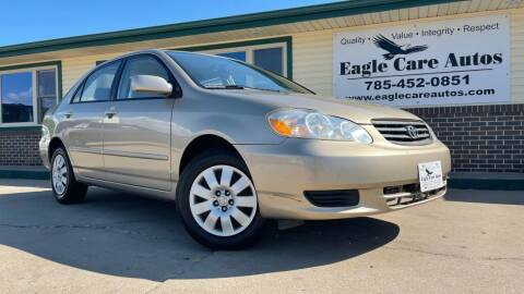 2004 Toyota Corolla for sale at Eagle Care Autos in Mcpherson KS
