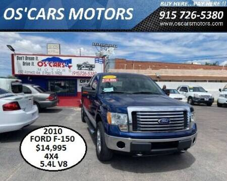 2010 Ford F-150 for sale at Os'Cars Motors in El Paso TX
