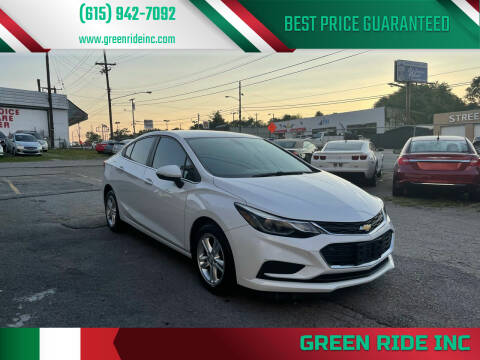 2016 Chevrolet Cruze for sale at Green Ride Inc in Nashville TN