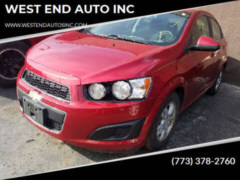 2014 Chevrolet Sonic for sale at WEST END AUTO INC in Chicago IL