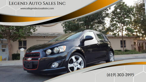 2014 Chevrolet Sonic for sale at Legend Auto Sales Inc in Lemon Grove CA