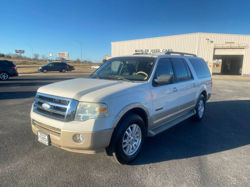 2008 Ford Expedition EL for sale at MARLER USED CARS in Gainesville TX