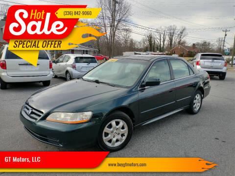 2001 Honda Accord for sale at GT Motors, LLC in Elkin NC