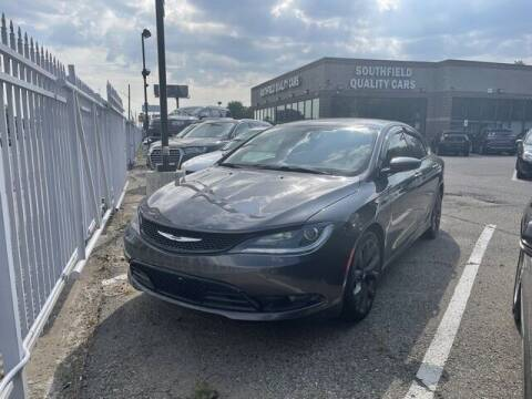 2016 Chrysler 200 for sale at SOUTHFIELD QUALITY CARS in Detroit MI
