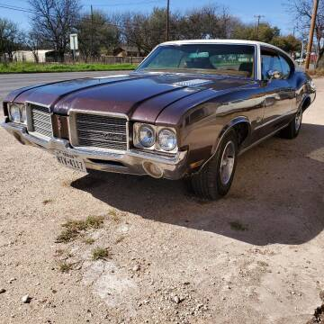 1971 Oldsmobile Cutlass for sale at CLASSIC MOTOR SPORTS in Winters TX