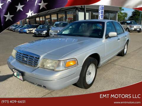 2001 Ford Crown Victoria for sale at EMT MOTORS LLC in Portland OR
