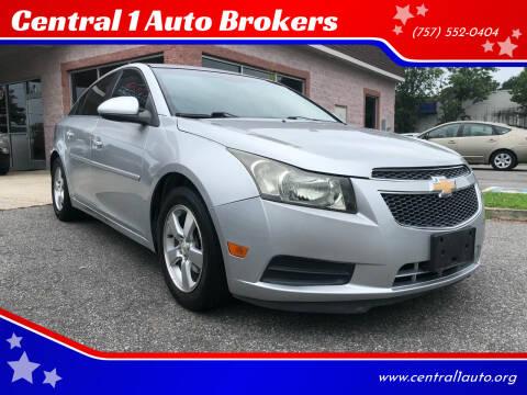 2013 Chevrolet Cruze for sale at Central 1 Auto Brokers in Virginia Beach VA