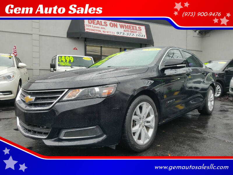 2016 Chevrolet Impala for sale at Gem Auto Sales in Irvington NJ