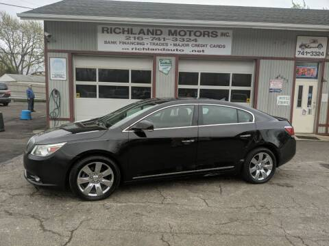 2010 Buick LaCrosse for sale at Richland Motors in Cleveland OH