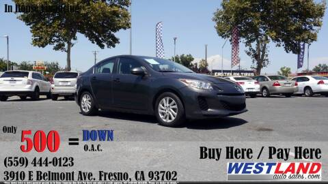 2012 Mazda MAZDA3 for sale at Westland Auto Sales in Fresno CA