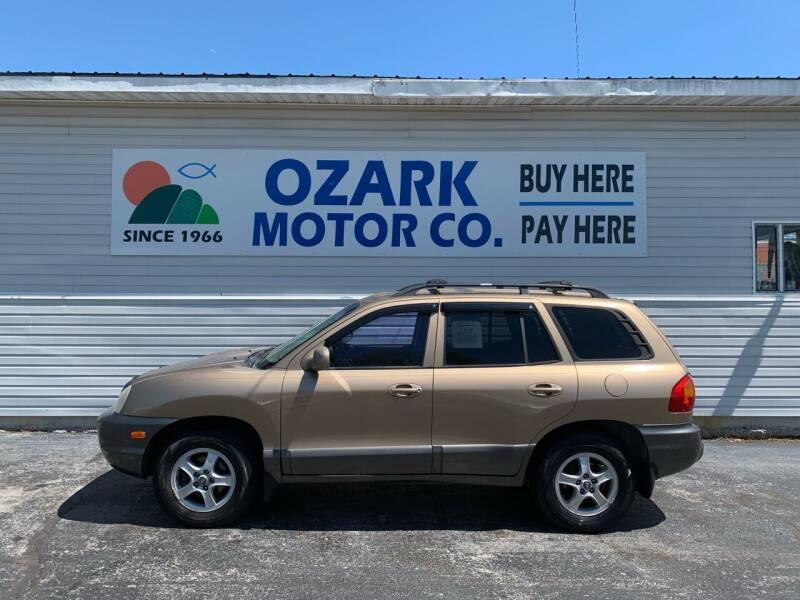 2004 Hyundai Santa Fe for sale at OZARK MOTOR CO in Springfield MO