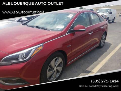 2016 Hyundai Sonata Hybrid for sale at ALBUQUERQUE AUTO OUTLET in Albuquerque NM