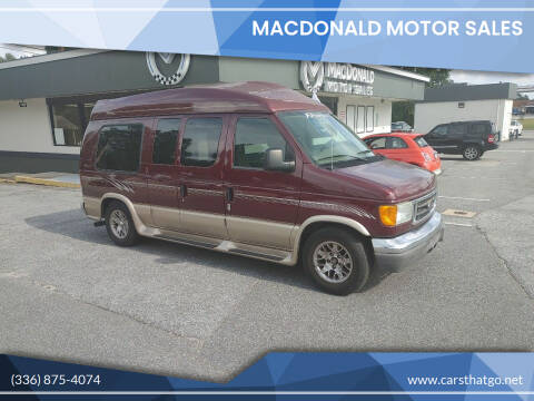 2005 Ford E-Series Cargo for sale at MacDonald Motor Sales in High Point NC