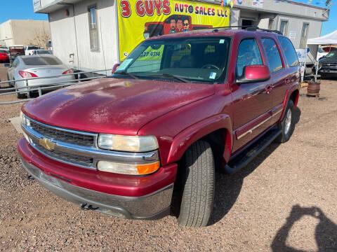 2004 Chevrolet Tahoe for sale at 3 Guys Auto Sales LLC in Phoenix AZ